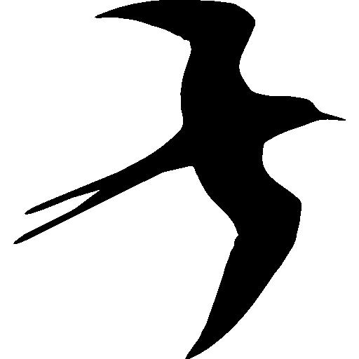 Swallow bird flying silhouette  free icon