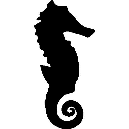 Seahorse silhouette  free icon