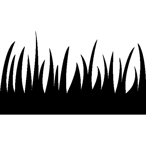 herbe, feuilles, silhouette  Icône gratuit