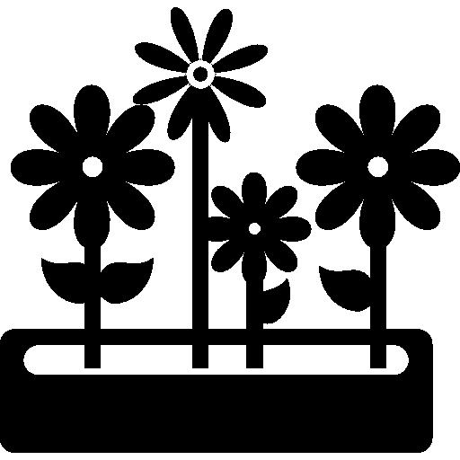 pot de fleurs de jardin  Icône gratuit
