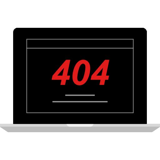 fehler 404  kostenlos Icon