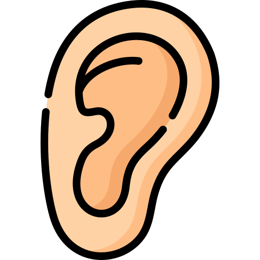 oído  icono gratis