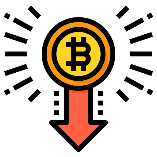 Drop in value  free icon