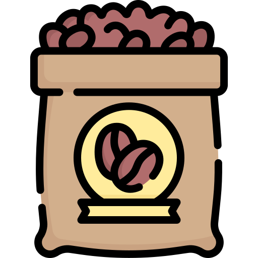 Пакетик кофе  бесплатно иконка