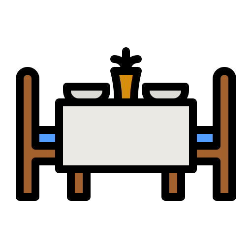 Dinner table  free icon
