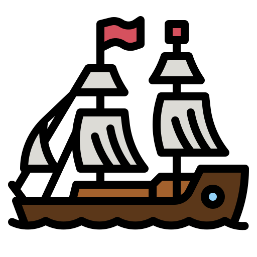 navio pirata  grátis ícone
