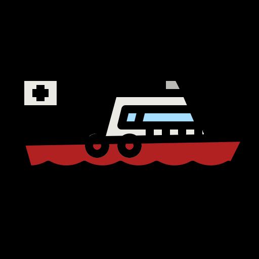 Rescue boat  free icon