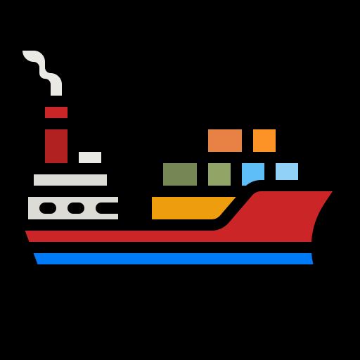 Cargo boat  free icon
