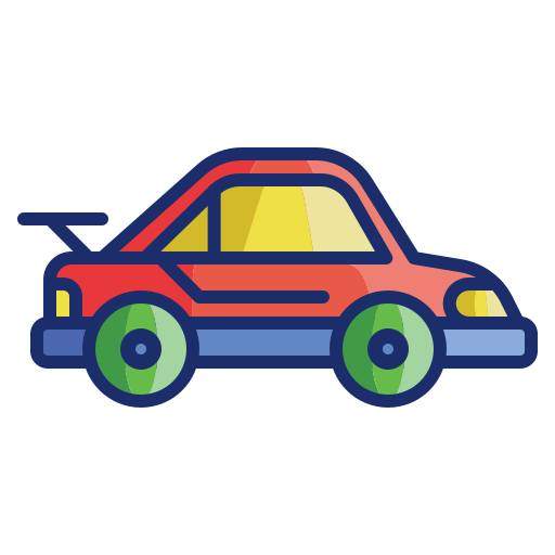 Sports car  free icon