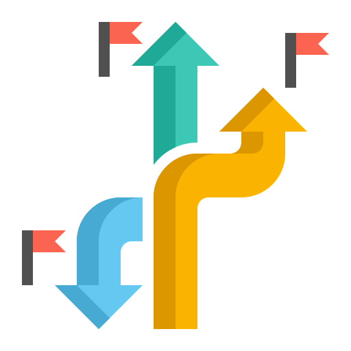 Roadmap  free icon