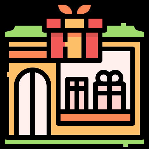 Gift shop  free icon