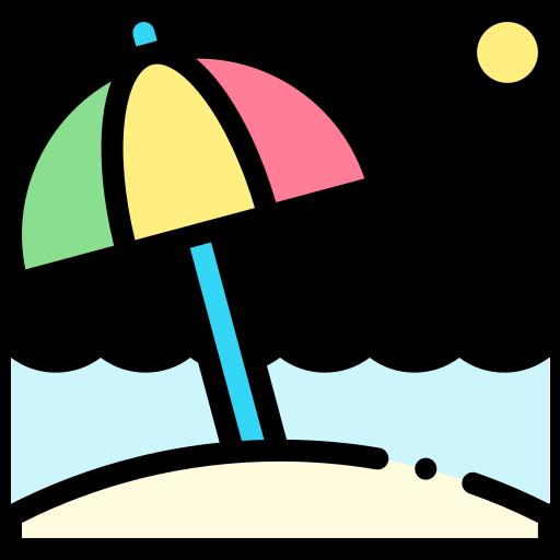 plage  Icône gratuit