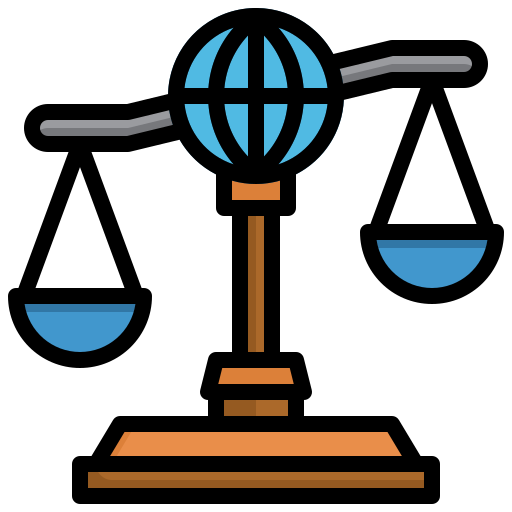 la loi internationale  Icône gratuit