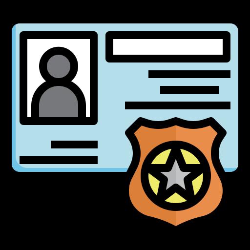 plaque de policier  Icône gratuit