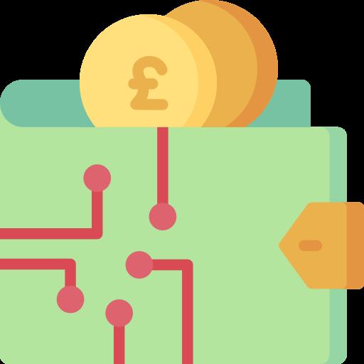 Digital wallet  free icon