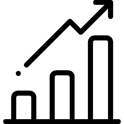 gráfico de barras  icono gratis