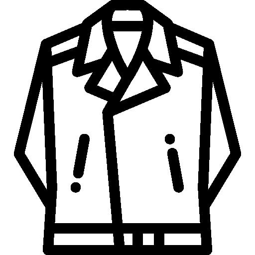 jaqueta de couro  grátis ícone