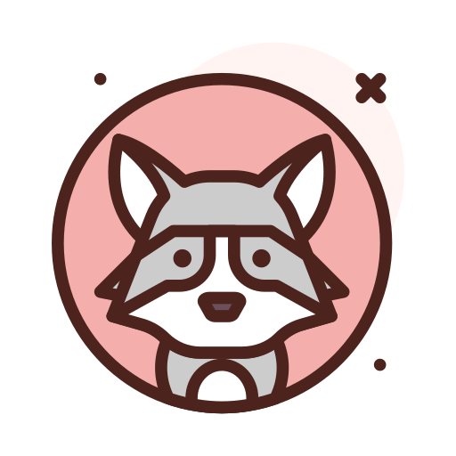 Racoon  free icon
