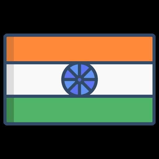 drapeau indien  Icône gratuit