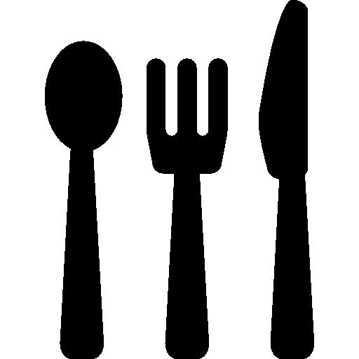 ensemble de couverts de salle à manger de trois pièces en silhouettes  Icône gratuit