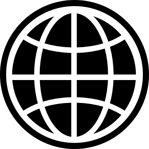Earth grid of the planet  free icon