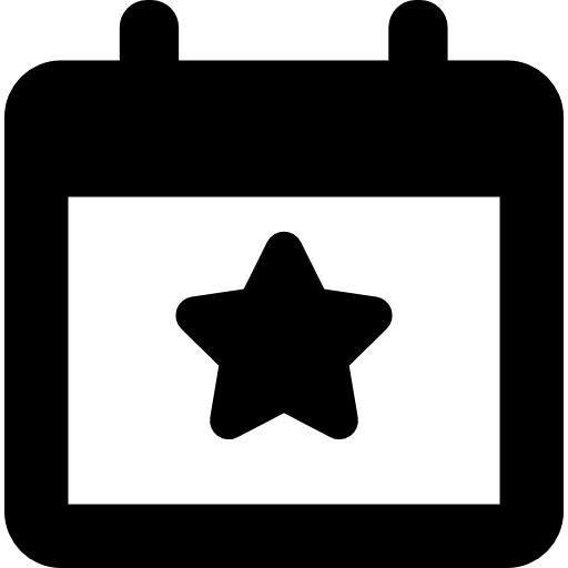 Election event on a calendar with star symbol  free icon