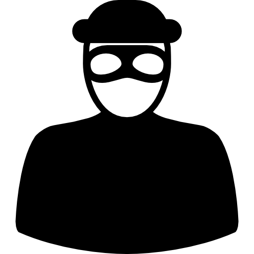 Unrecognizable robber with eyes mask  free icon