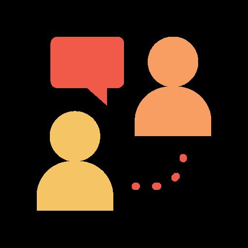 Online meeting  free icon