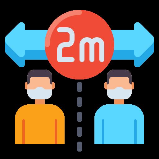 soziale distanzierung  kostenlos Icon