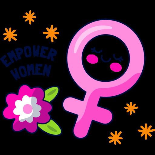 poder femenino  gratis sticker