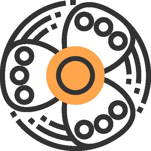 roda giratória  grátis ícone