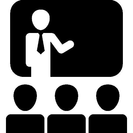 비즈니스 프레젠테이션의 청중  무료 아이콘