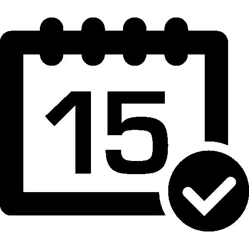 Calendar check symbol  free icon