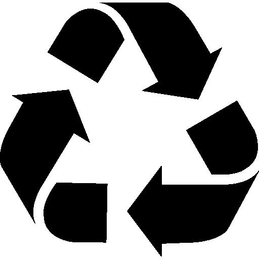 Recycle triangular symbol of three arrows rotation  free icon