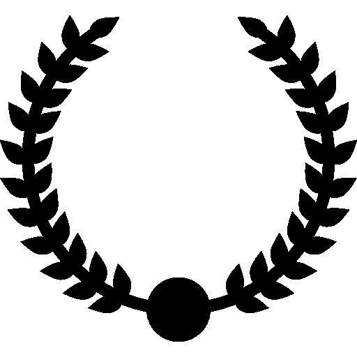 symbole de branches circulaires de prix couronne  Icône gratuit