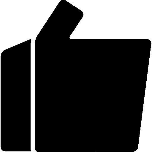 como o polegar para cima, o símbolo das linhas retas da mão  grátis ícone
