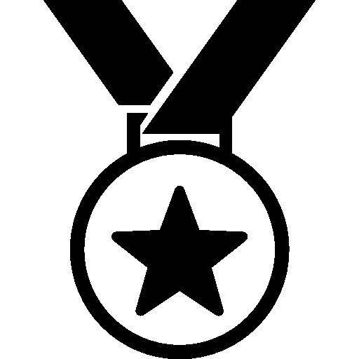 symbole de médaille sportive avec une étoile  Icône gratuit