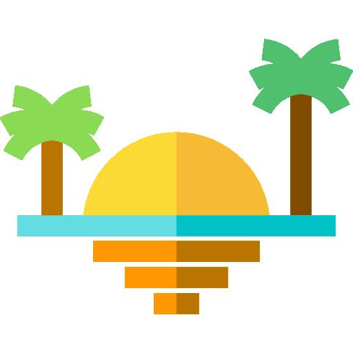 sonnenuntergang am strand  kostenlos Icon
