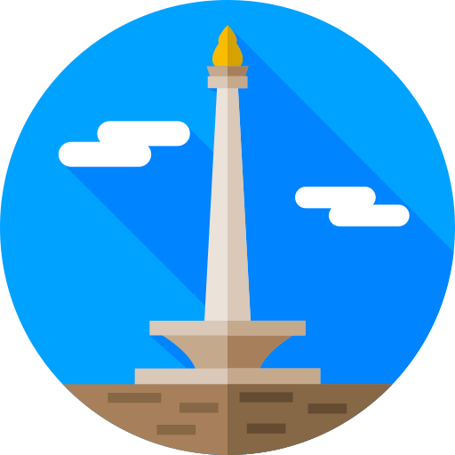 monumento nacional jacarta  grátis ícone