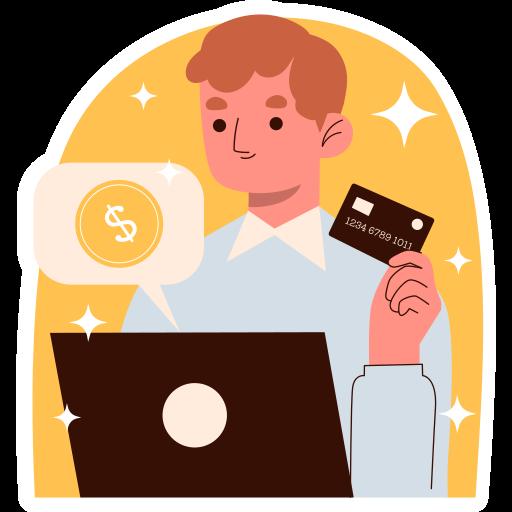 pago en línea  gratis sticker