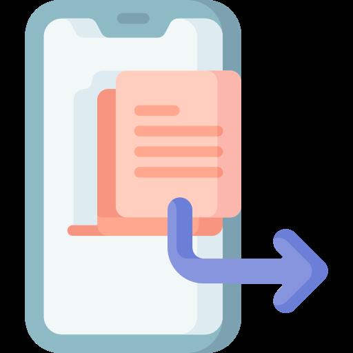 envoyer des données  Icône gratuit