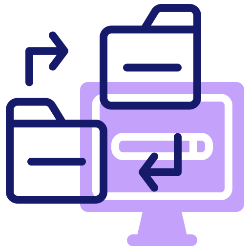 transfert de données  Icône gratuit