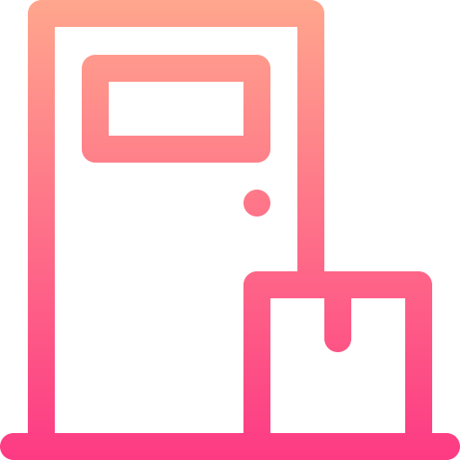Home delivery  free icon
