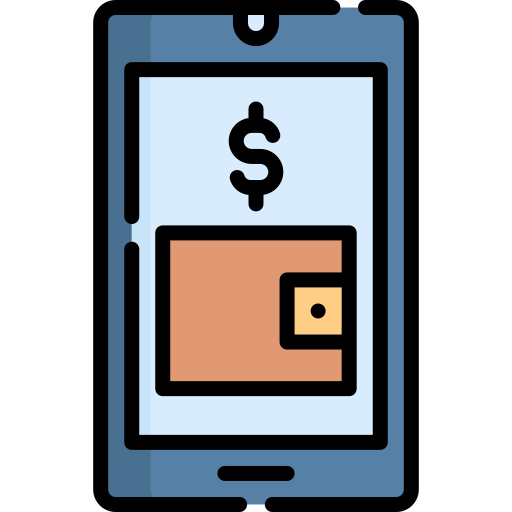 Online wallet  free icon