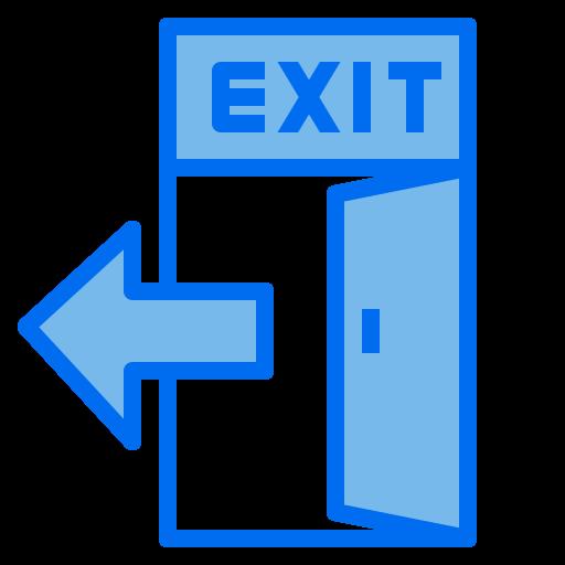 Exit door  free icon