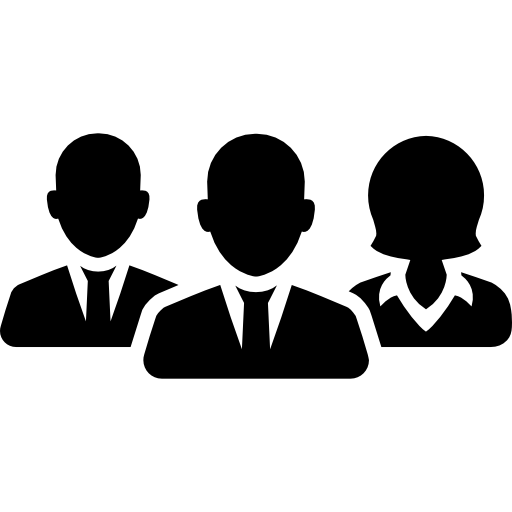 equipo de trabajadores  icono gratis