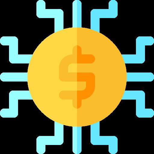 Digital money  free icon