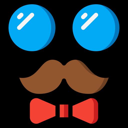 lunettes et moustache  Icône gratuit
