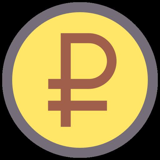 Ruble  free icon