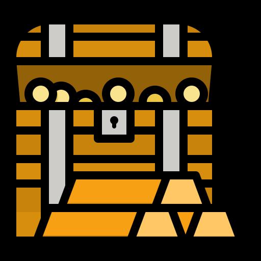 Treasure chest  free icon